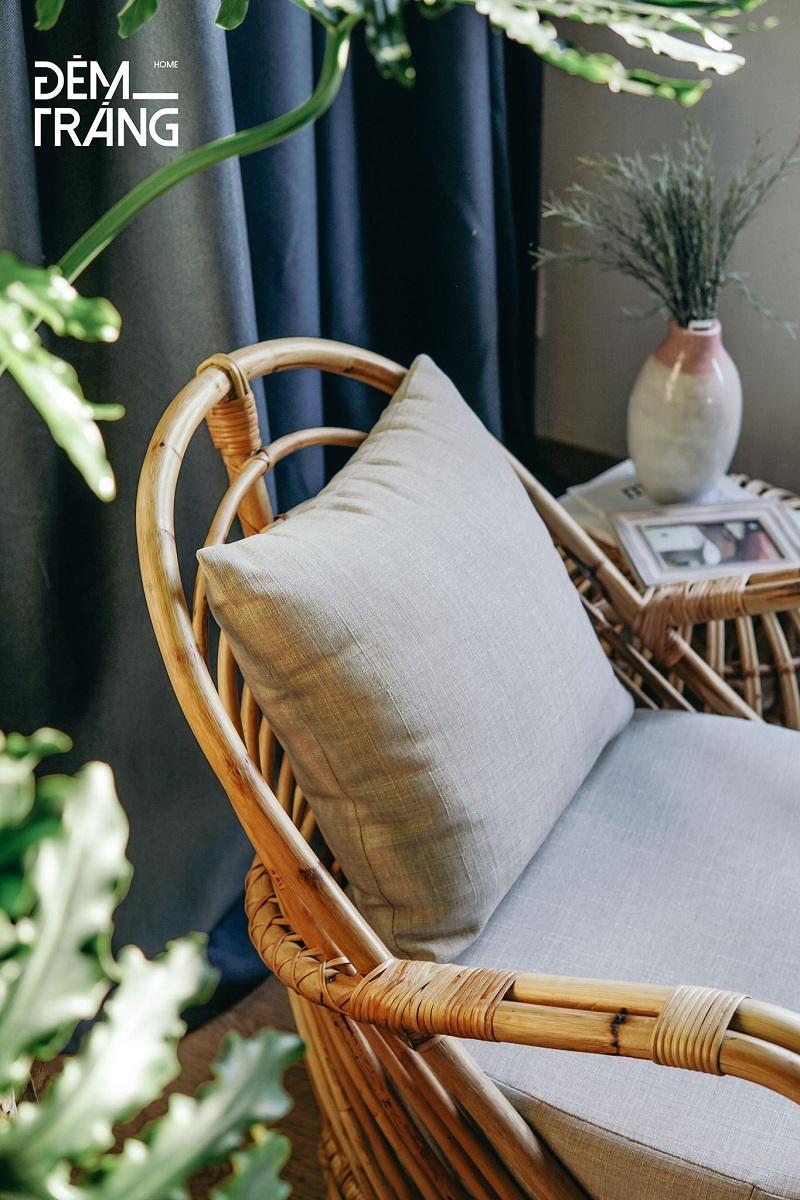 天然素材の籐を仕様したラタン製デザイナーズチェアラタンチェア ラウンジチェア デザイナーズチェア 籐の椅子 パーソナルチェア ラタン家具 籐椅子 一人掛け クッション付 座椅子 木製 おしゃれ#1