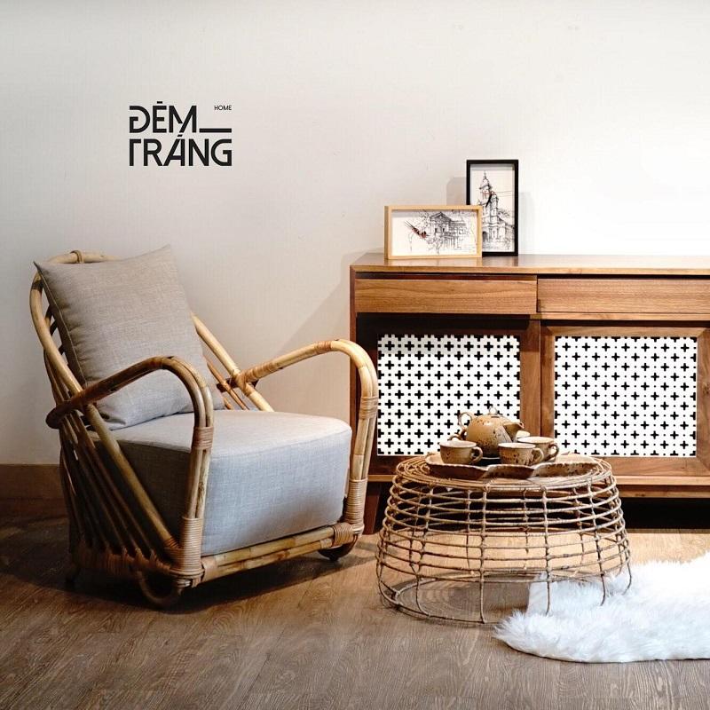 天然素材の籐を仕様したラタン製デザイナーズチェアラタンチェア ラウンジチェア デザイナーズチェア 籐の椅子 パーソナルチェア ラタン家具 籐椅子 一人掛け クッション付 座椅子 木製 おしゃれ#10