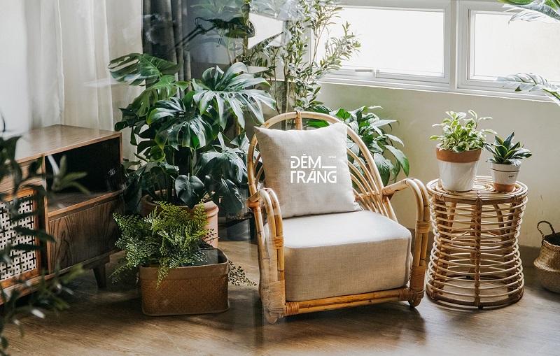 天然素材の籐を仕様したラタン製デザイナーズチェアラタンチェア ラウンジチェア デザイナーズチェア 籐の椅子 パーソナルチェア ラタン家具 籐椅子 一人掛け クッション付 座椅子 木製 おしゃれ#11