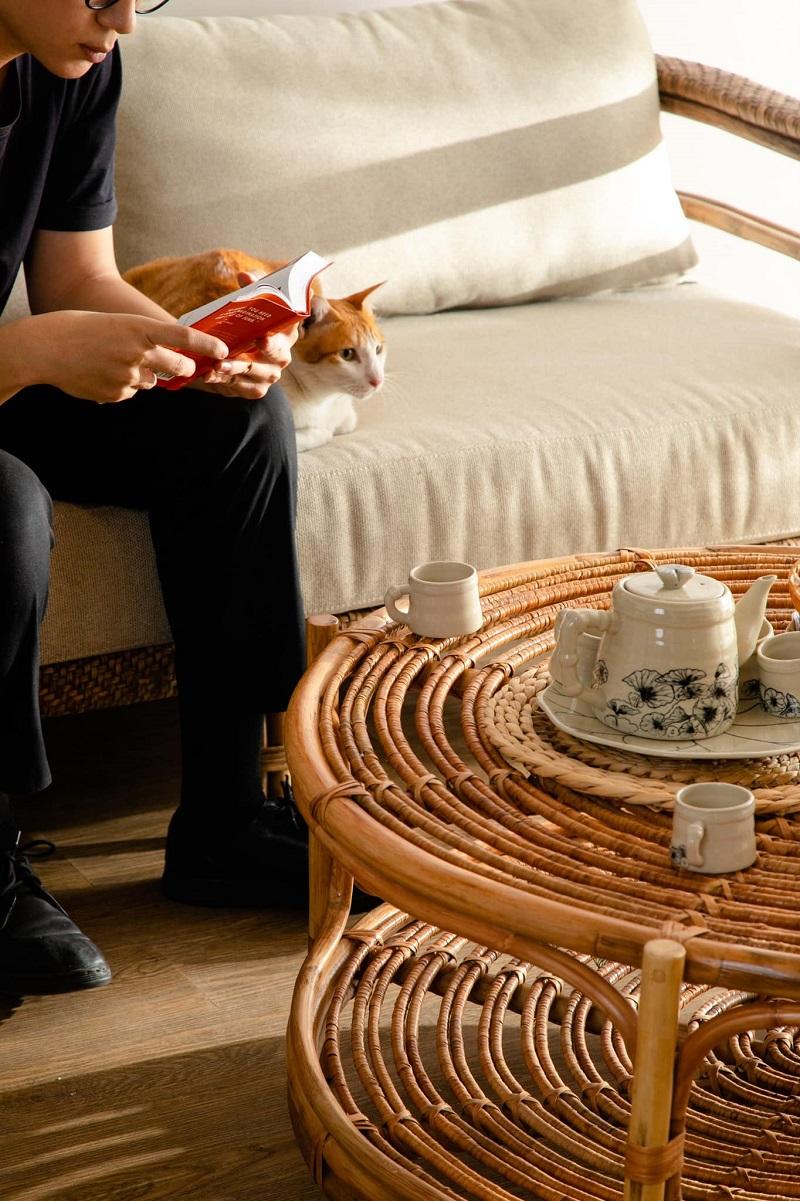 ナチュラルな雰囲気でお洒落空間を創り出すラタン製ローテーブル丸テーブル 籐のテーブル ラタン家具 サイドテーブル ローテブル 70cm 棚付き おしゃれ 2段テーブル ミニテーブル 円卓 軽量 天然素材 おしゃれ アジアン#1