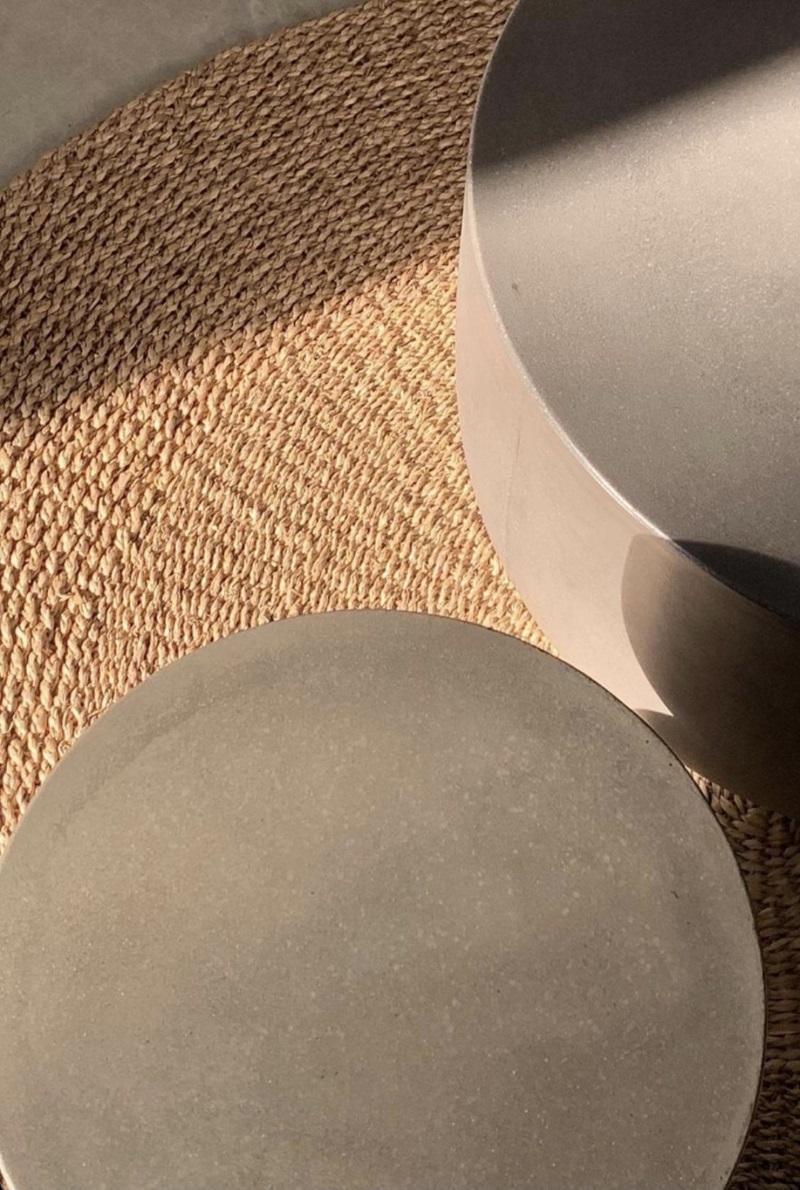 インテリアとしてもオススメ! 丸形コンクリートテーブルコンクリート製 デザイナーズテーブル 円形型 サイドテーブル 丸 センターテーブル 屋外テーブル コーヒーテーブル おしゃれ 40cm 輸入家具 コンクリート家具#12