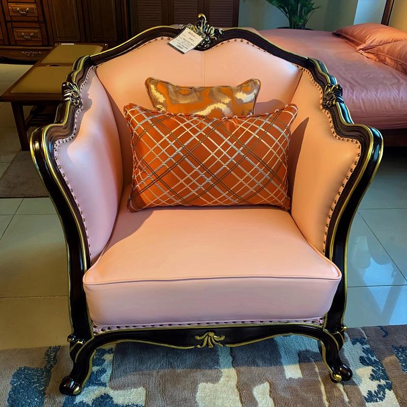 かわいいピンク色の7.5人用 3点ソファーセットデザイナーズソファ 姫系 3点セット 輸入家具 ピンク 猫脚 かわいい 高級ソファー リビングソファー ソファーセット エステ 待合室ソファー 椅子 応接セット#8